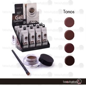 Gel Tonos Cafes Delineador De Cejas EGD01 Beauty Creations