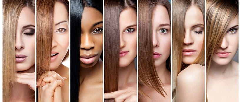Los tonos de cabello